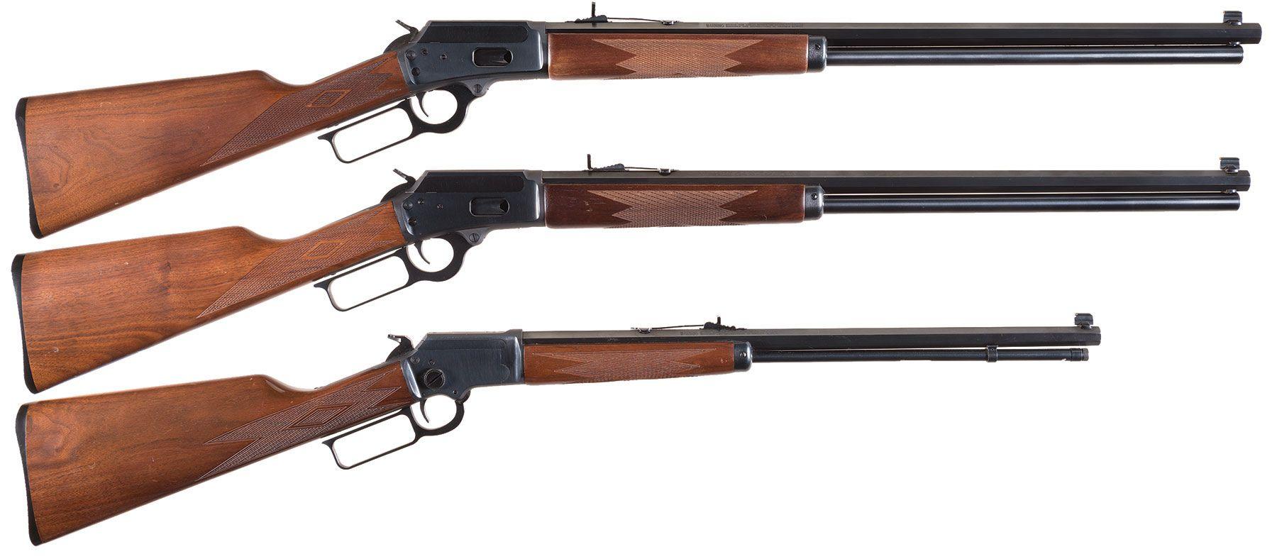 Three Marlin Lever Action Rifles -A) Marlin Model 1894 Cowboy Li
