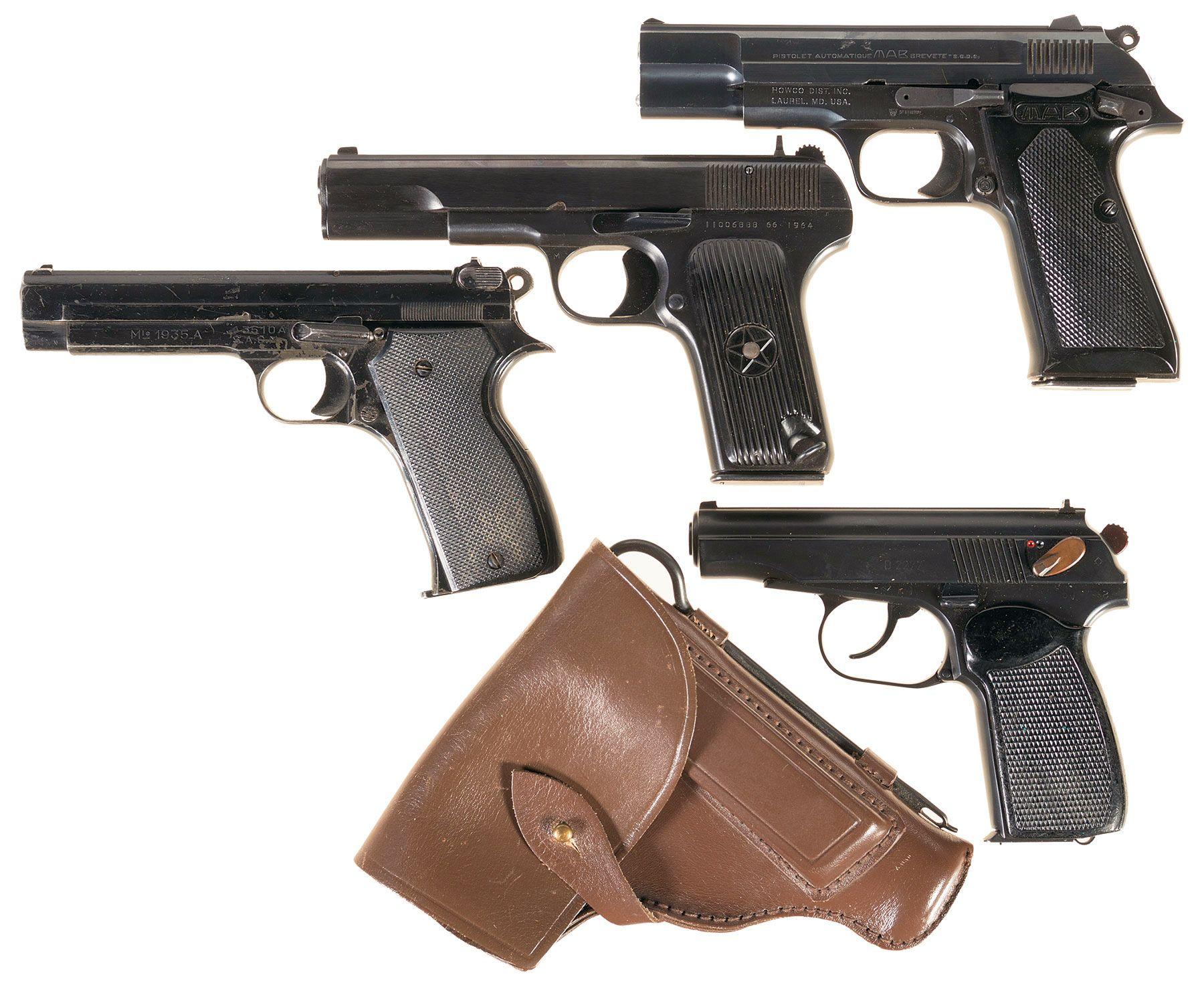Four Semi-Automatic Pistols -A) French M A B  Model PA-15 Pistol