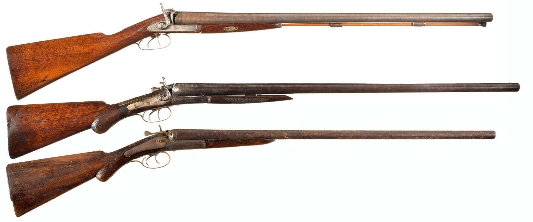 Three double barrel shotguns a george fisher double barrel per full screen thecheapjerseys Images