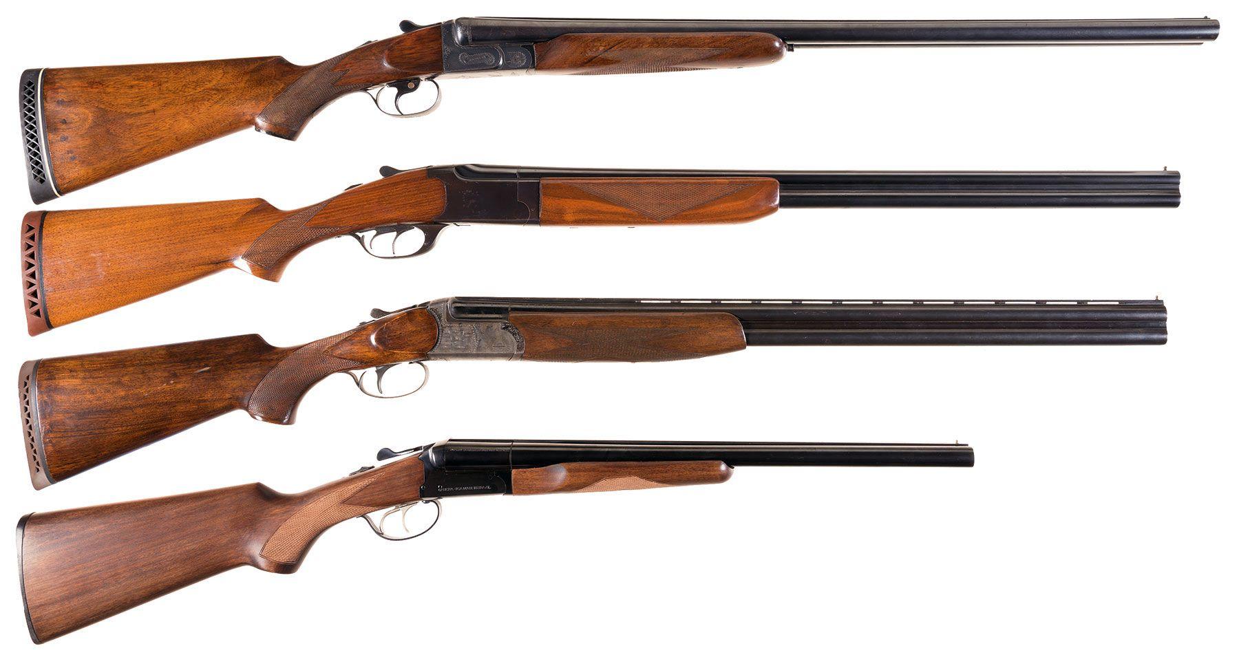 Four Shotguns -A) Factory Engraved AYA Matador Double Barrel Sho