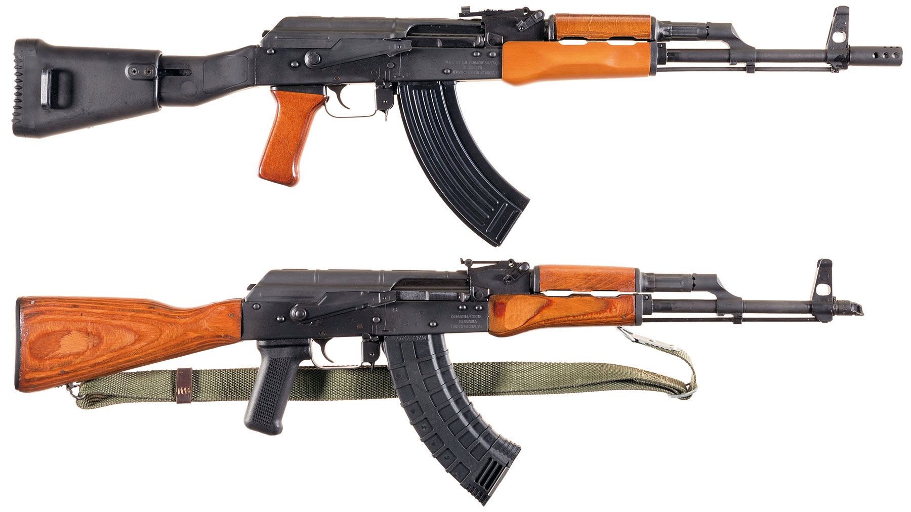 Two AK Style Semi-Automatic Carbines -A) Romarm WASR-10/63 Rifle
