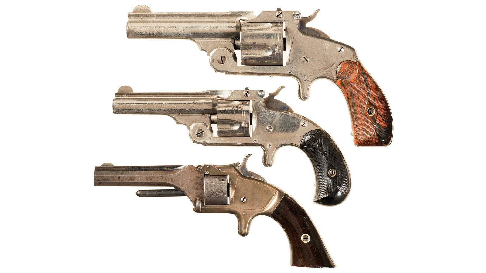 Three Smith & Wesson Revolvers