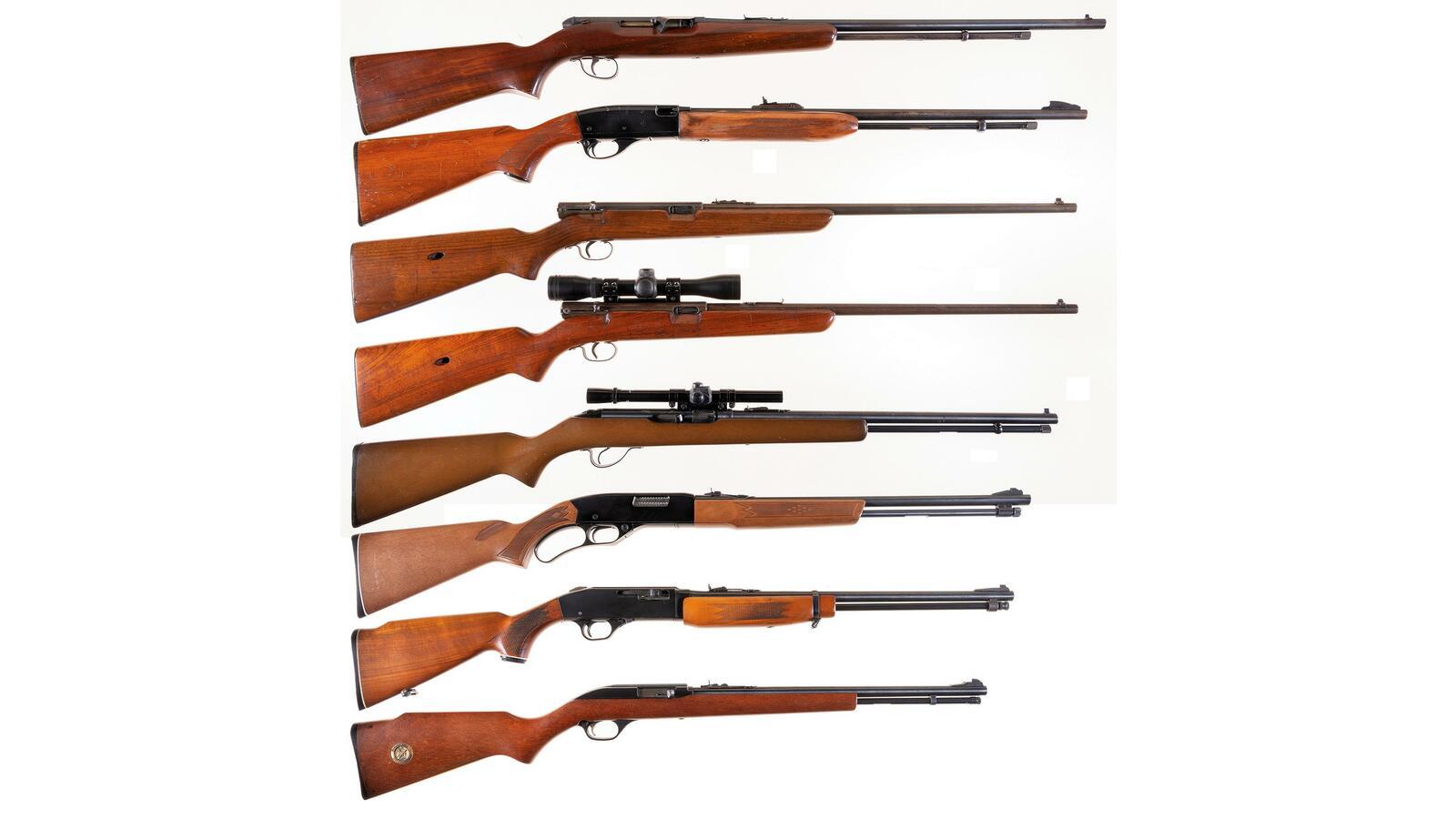 Eight Sporting Rifles