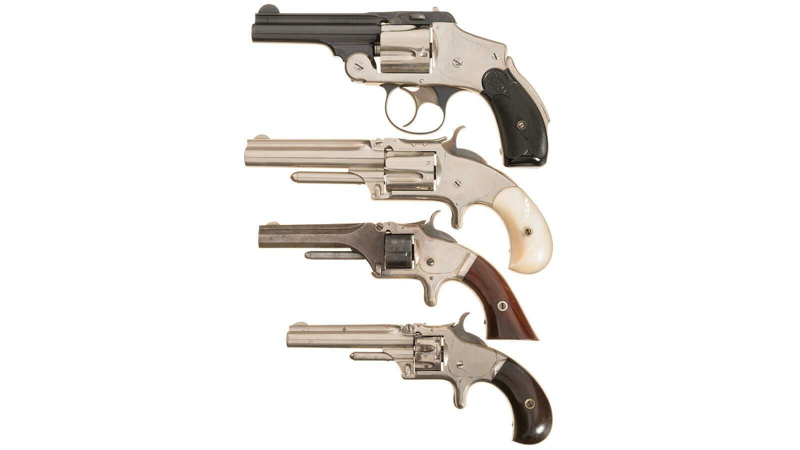 Four Antique Smith & Wesson Revolvers