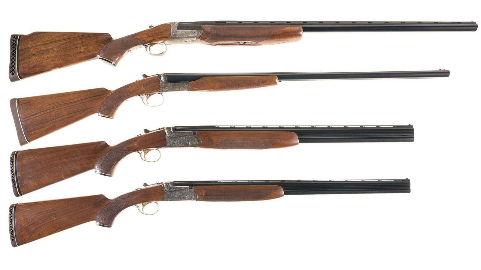 Four Engraved Ithaca/SKB Shotguns