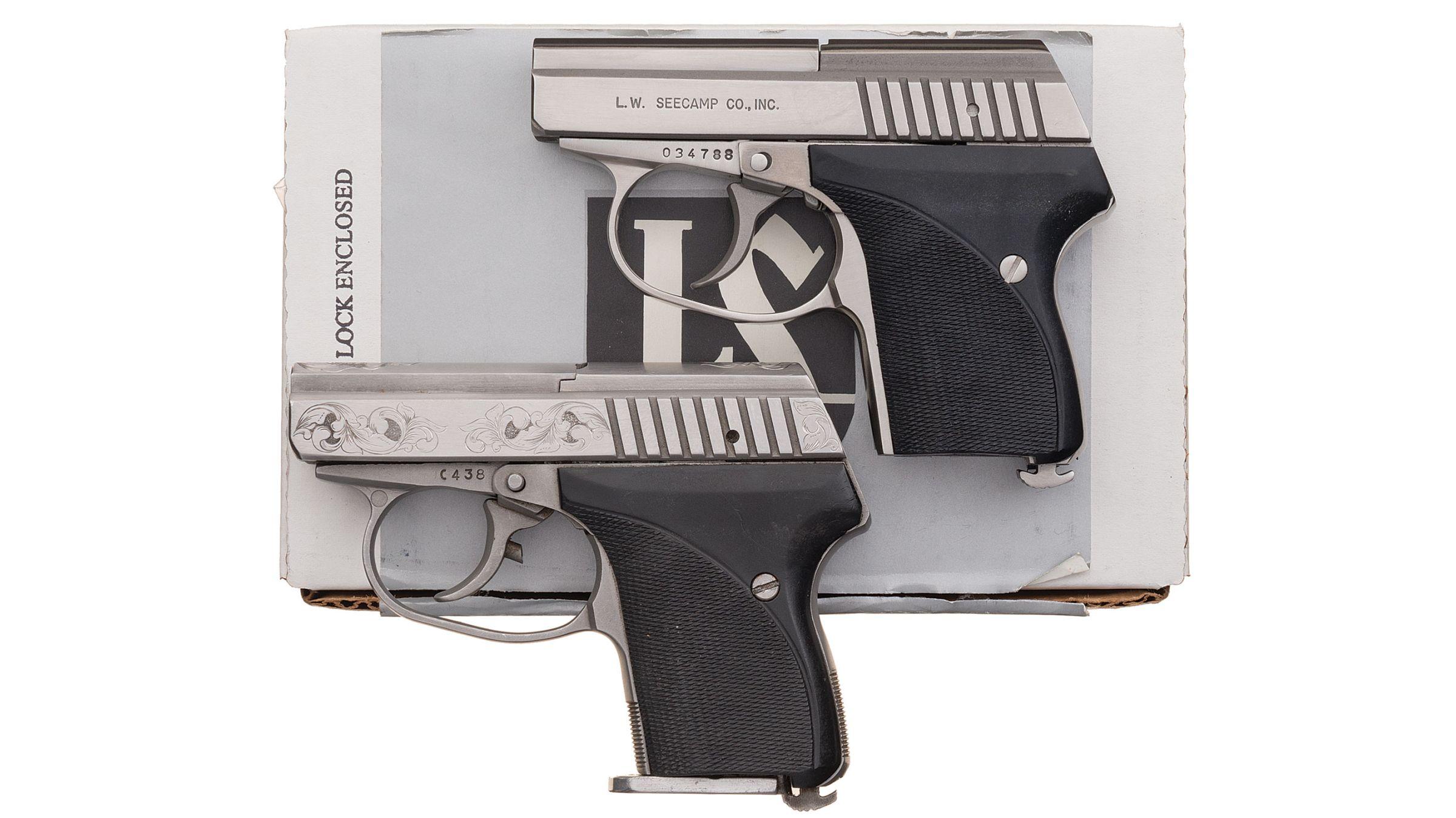 Two L W  Seecamp Semi-Automatic Pistols