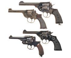 Five European Military DA Revolvers w/ Holsters