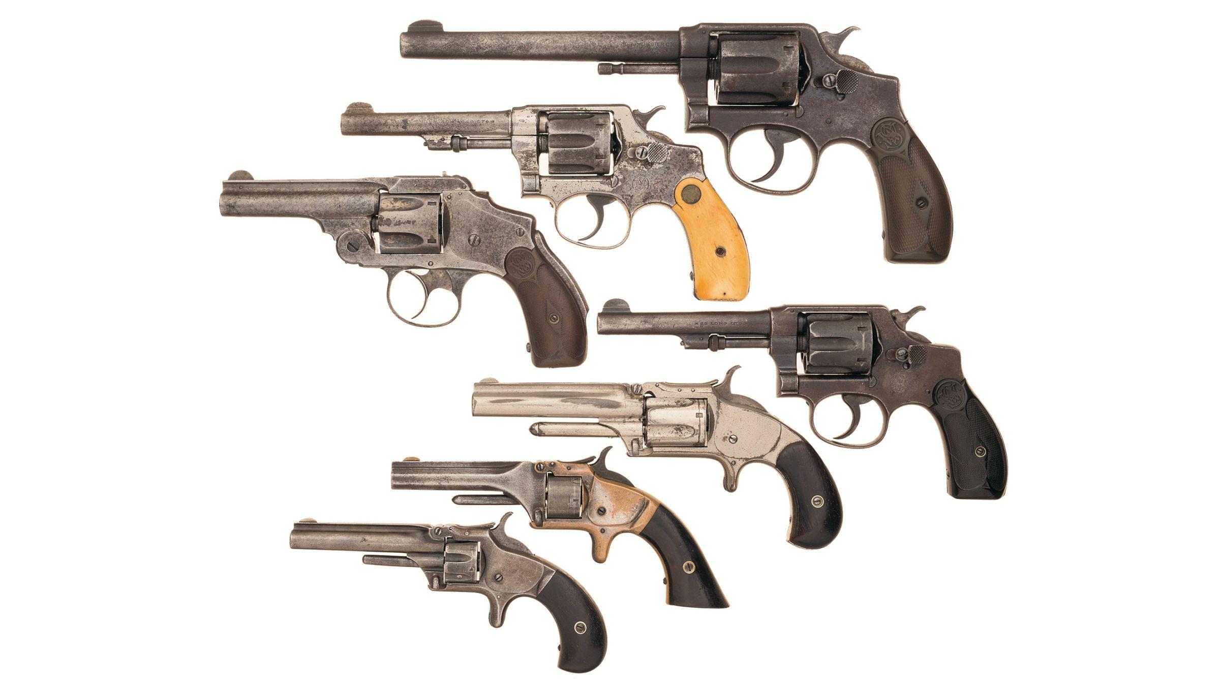 Seven Smith & Wesson Revolvers