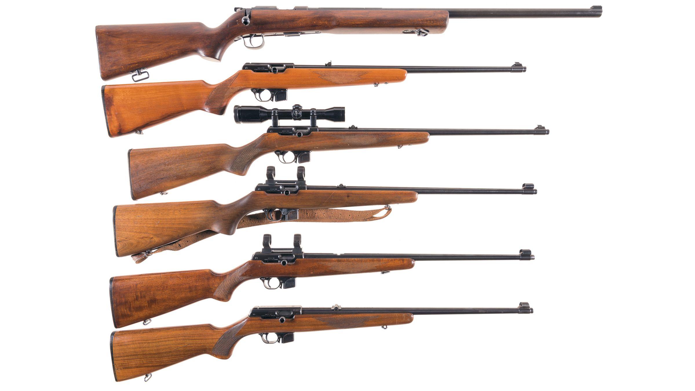 Six CZ/Brno Sporting Rifles