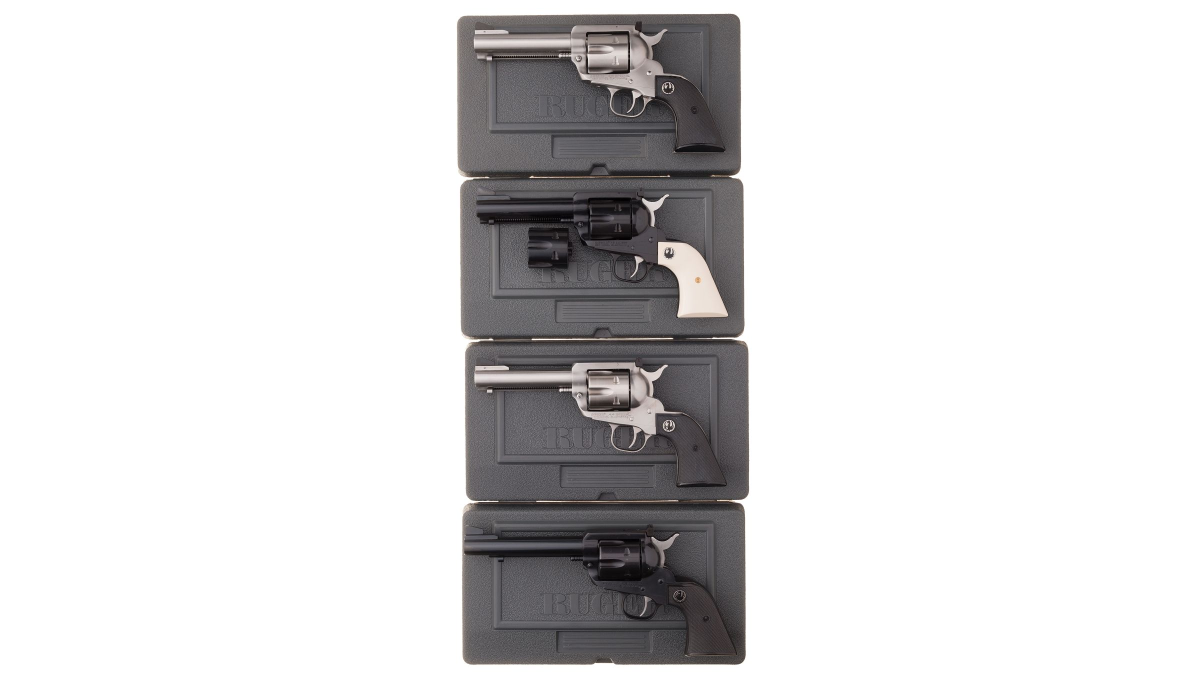 Four Ruger New Model Blackhawk Single Action Revolvers