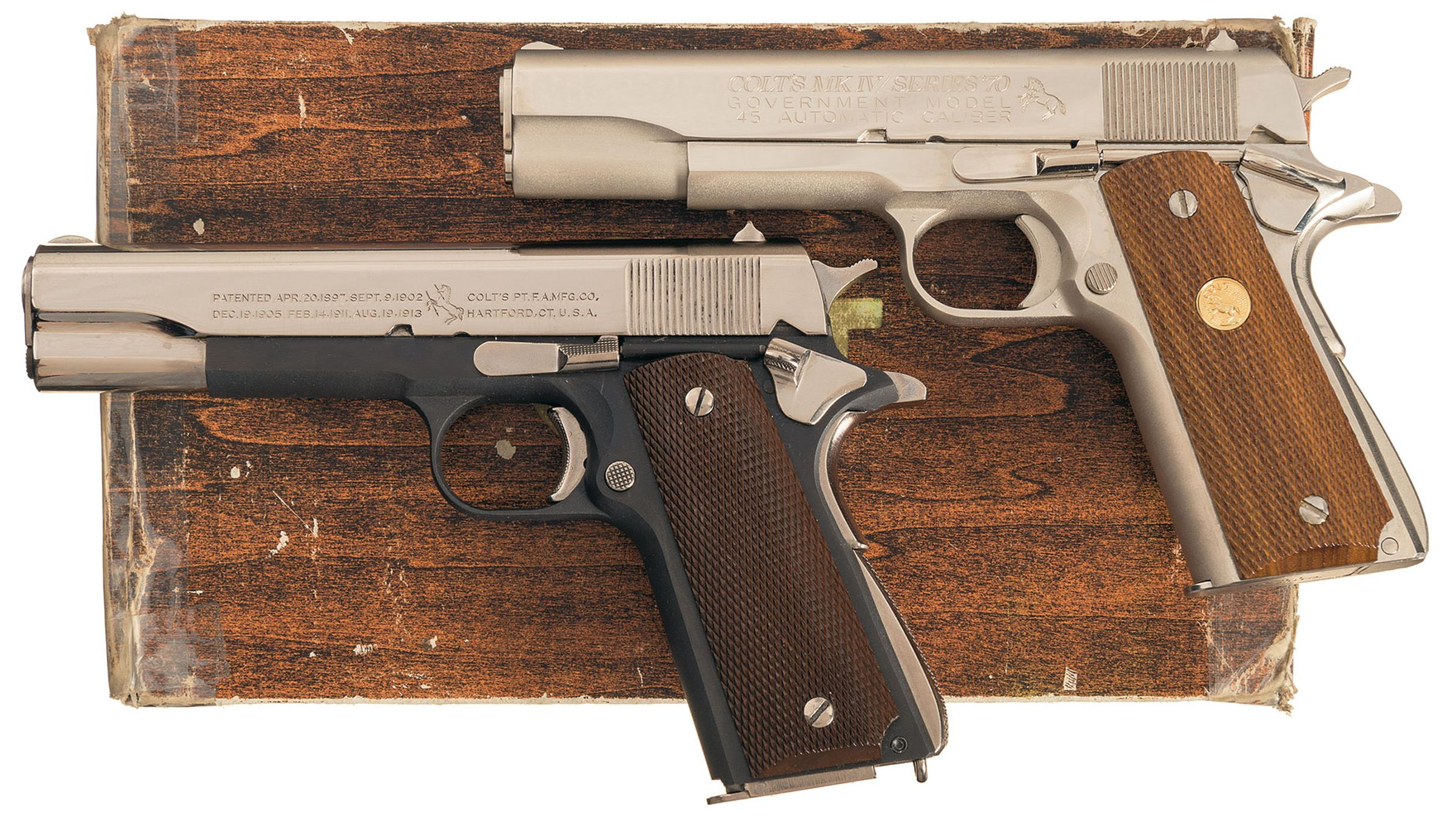 Two 1911A1 Pattern Semi-Automatic Pistols