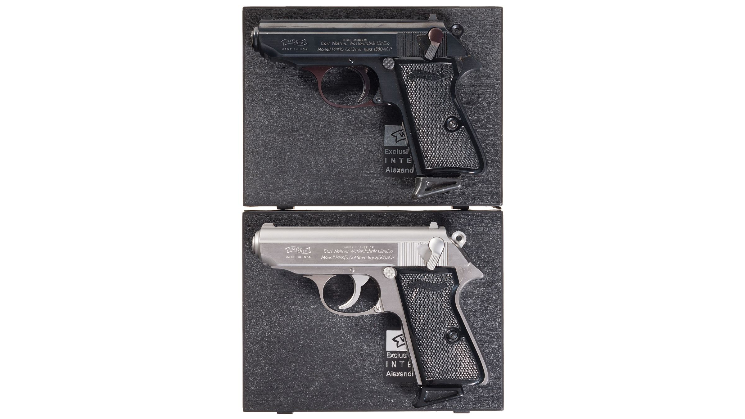 Two Cased Walther PPK/S Pistols with Matching Serial Numbers