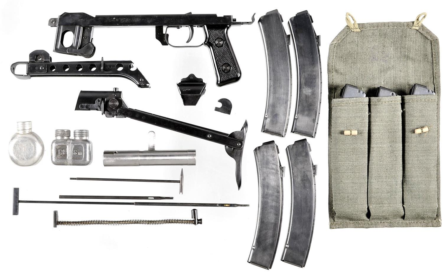 Soviet PPS43 Sub Machine Gun Parts with Magazines and Accessorie