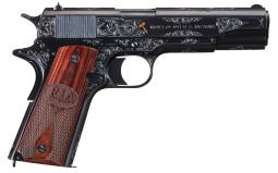U.S. Colt 1911 Pistol, 1918 Production, Engraved and Inlaid