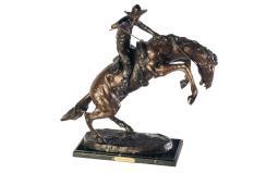 Reproduction Remington Bronco Buster Bronze