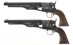 Two Colt 1860 Army Percussion Revolvers