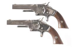 Two Smith & Wesson Model 1 Spur Trigger Revolvers