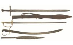 Three Swords and One Spear Tip