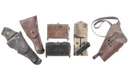 Three Holsters and Three Ammunition Pouches