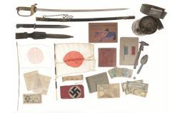 Japanese Sword and Assorted WWII Memorabilia