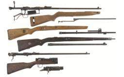 Four Japanese Receivers and Assorted Firearm Parts