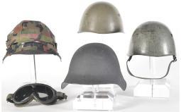 Four European Style Military Helmets