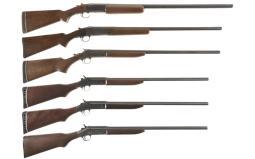 Six Single Barrel Shotguns