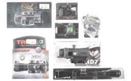 Seven Assorted Rifle Scopes and Sights