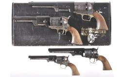 Four Reproduction Percussion Revolvers