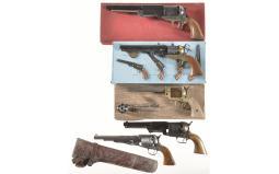 Five Italian Replica Revolvers