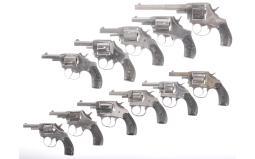 Eleven Double Action Revolvers