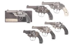 Six Iver Johnson Double Action Revolvers