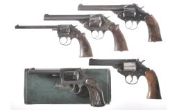 Five Iver Johnson Double Action Revolvers