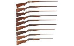 Nine Single Shot Shotguns