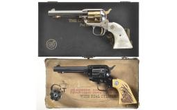 Two Colt Frontier Scout Revolvers
