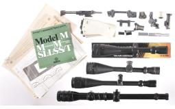 Group of Four Assorted Scopes and Accessories