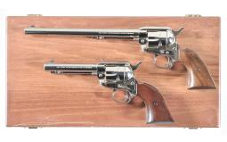 Two Cased Colt Single Action Revolvers