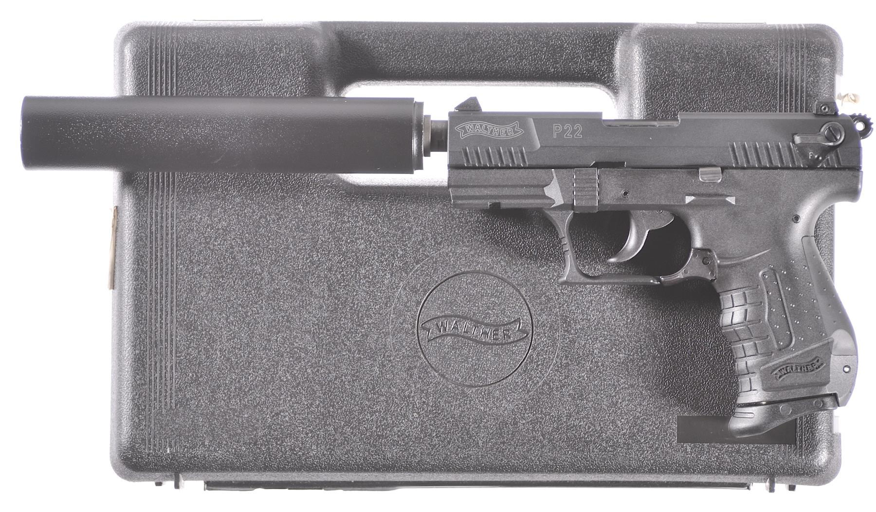 Walther P22 Semi-Automatic Pistol with T&J Tactical Suppressor