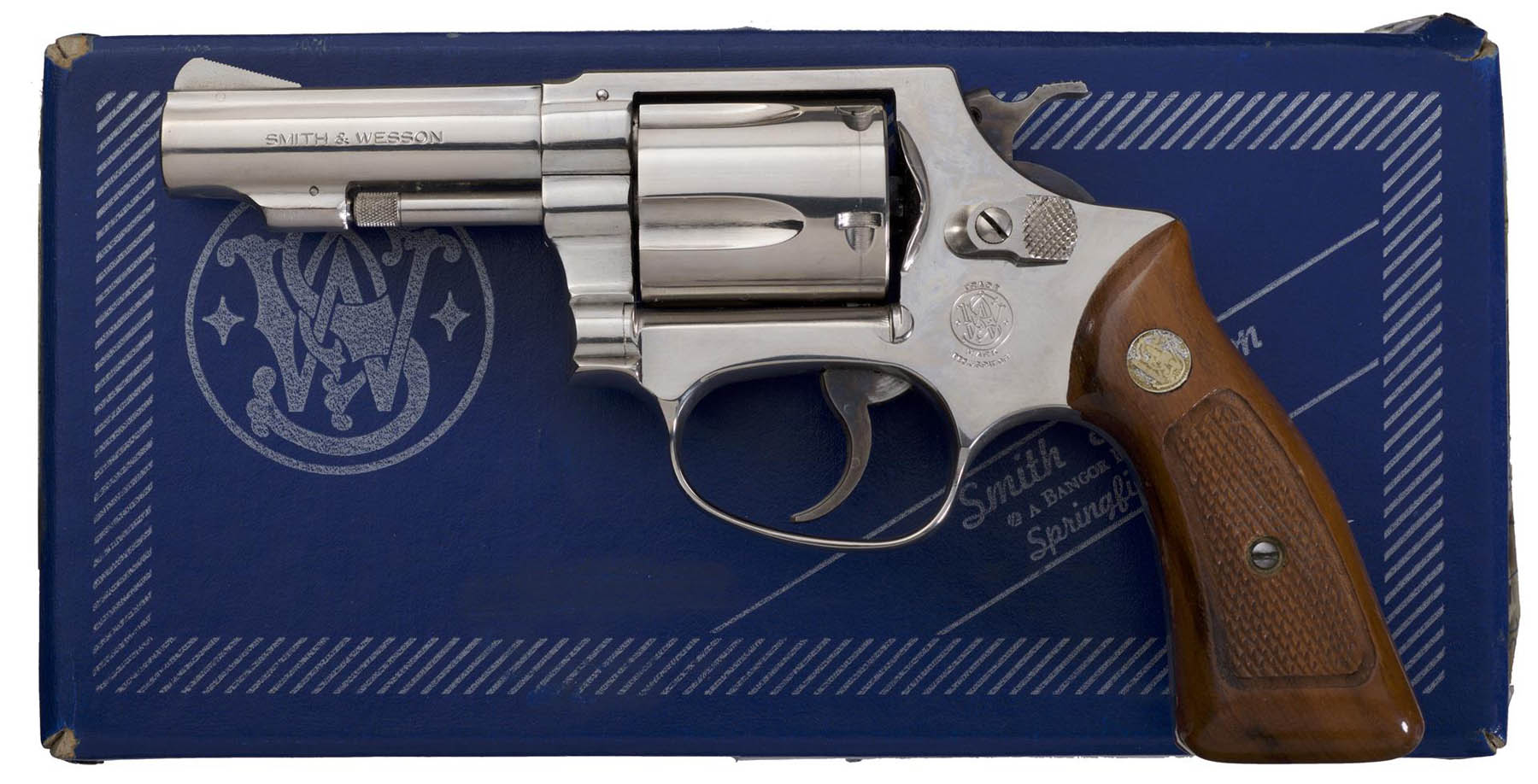 Smith & Wesson 36 Nickle Revolver