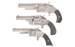 Three Smith & Wesson Spur Trigger Revolvers