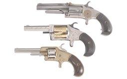 Three Spur Trigger Revolvers