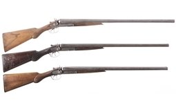 Three L.C. Smith Double Barrel Shotguns
