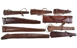 Group of Four Assorted Long Gun Cases and Five Scabbards