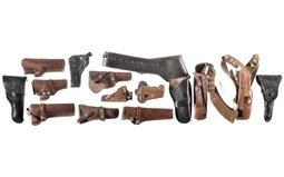 Fourteen Assorted Holsters