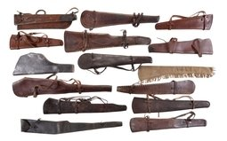 Group of Fifteen Assorted Rifle Scabbards