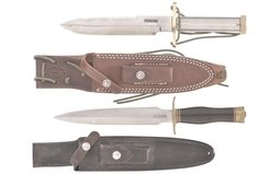 Two Randall Knives with Sheaths