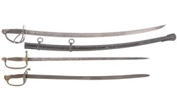 Three Civil War Style Swords