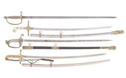 Four U.S. Military Style Swords