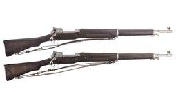 Two Eddystone Model 1917 Bolt Action Rifles