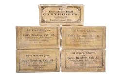 Five Boxes of Reproduction Frankford Arsenal .45 Caliber Ammunit